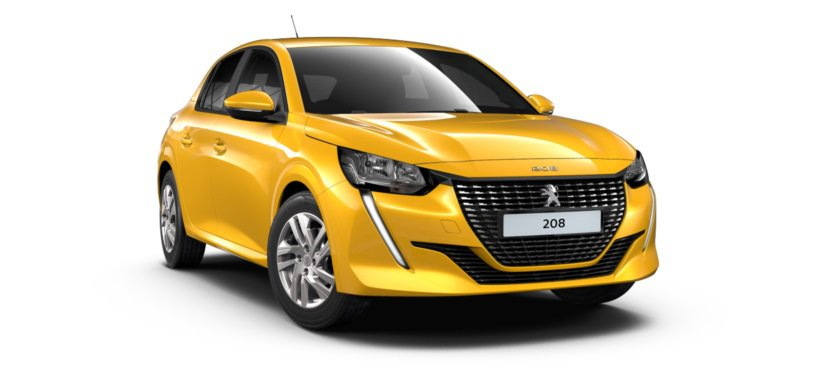 All-new 208_Front - Faro Yellow